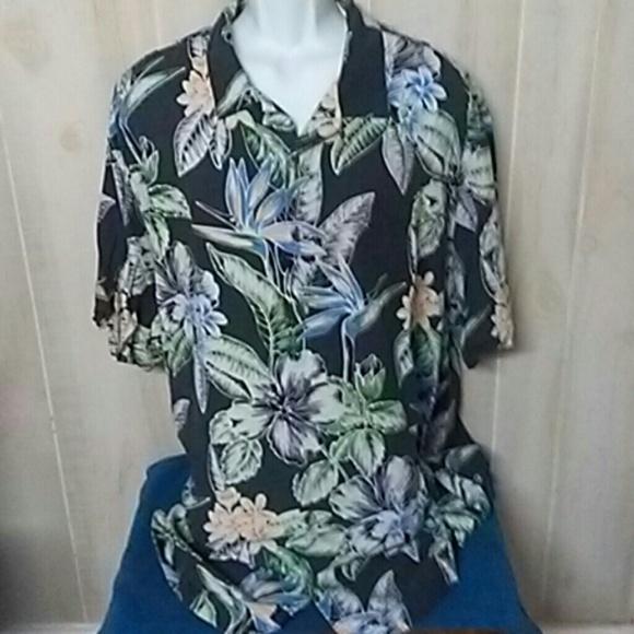edd126070 Tommy Bahama Shirts | Mens Heritage Tortola Silk Shirt 3xt | Poshmark